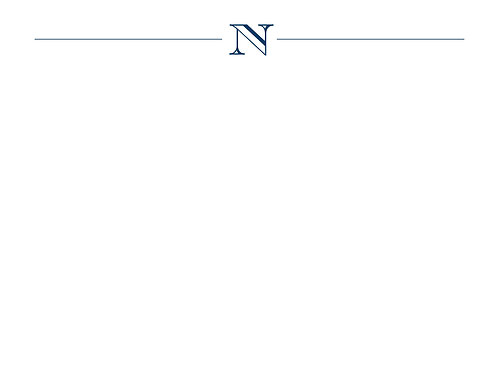 Monogram N Flat Card
