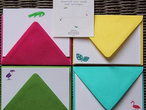 Tropical 4bar Flat Cards Set/8