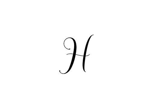 Monogram H Folded Note