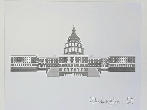 8x10 Print US Capitol