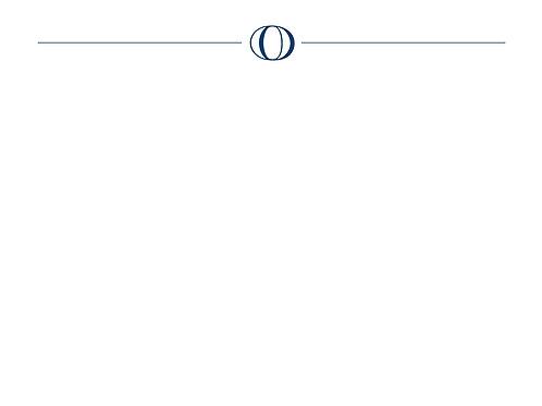 Monogram O Flat Card