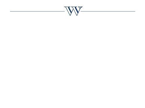 Monogram W Flat Card