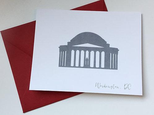 Jefferson Memorial Single Card