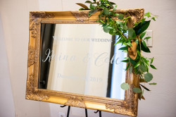 Gold Frame and Mirror