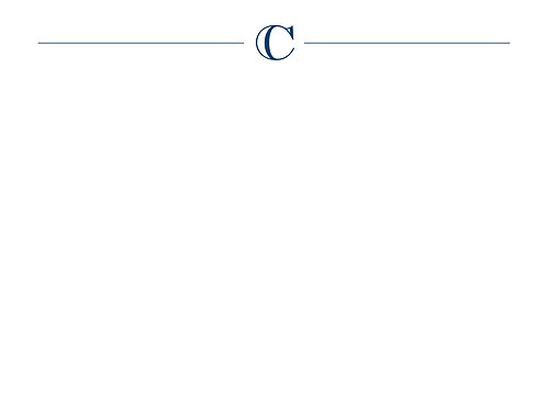 Monogram C Flat Card
