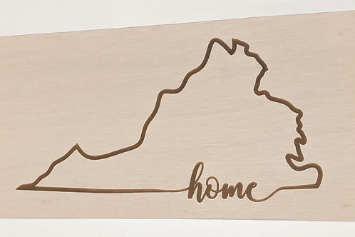 Virginia Home Sign (white washed)