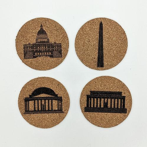 DC Cork Coaster Set of 4