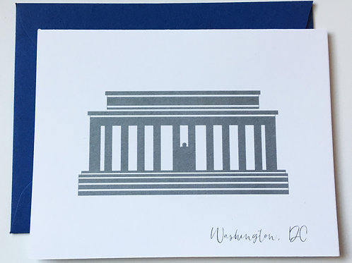 Lincoln Memorial Single Card