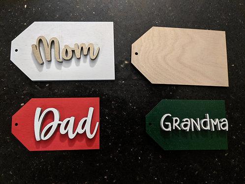 Custom Wood Tags