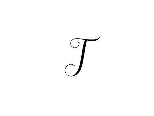 Monogram T Folded Note