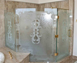 florence-glass-shower-doors-etched-glass
