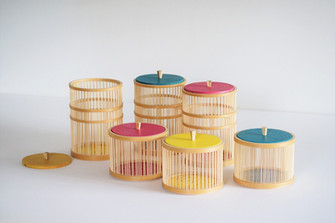 Stripe -Takesensuji candy pots-