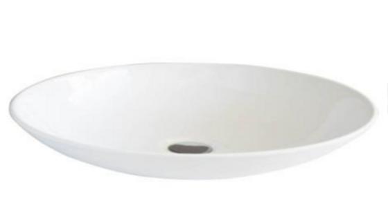 Lavamanos en porcelana redondo blanco 28*28