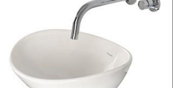 Lavamanos ovalado en porcelana color blanco 40*33