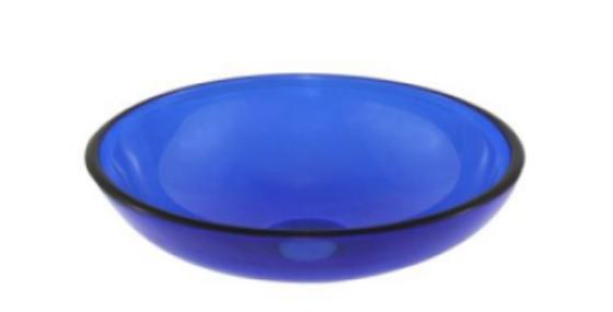 Lavamanos en cristal azul 31cm