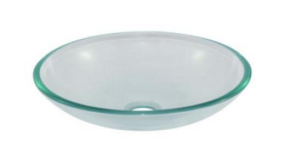 Lavamanos en cristal transparente 35cm