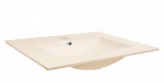 Lavamanos mesón integrado en porcelana beige 60*39