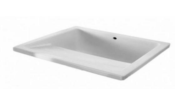 Lavadero en cerámica blanco 55cm*49cm