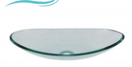 Lavamanos en cristal transparente canoa 45*33