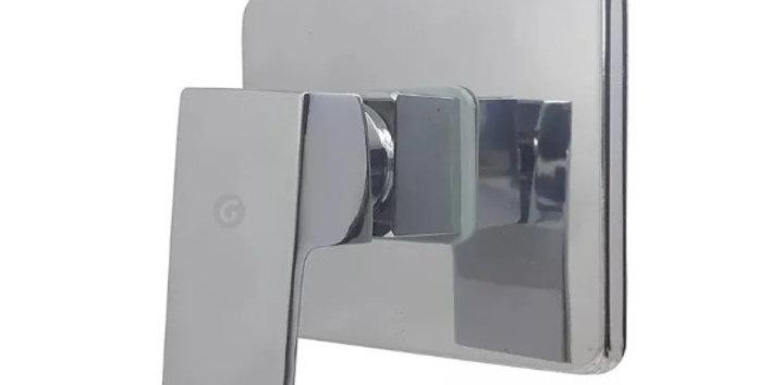 Monocontrol ducha cuadrado cromado