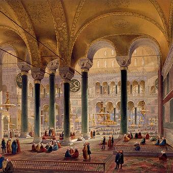 interior-view-of-hagia-sophia-by-louis-h