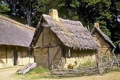 Replica-buildings-Jamestown-Fort-Settlem