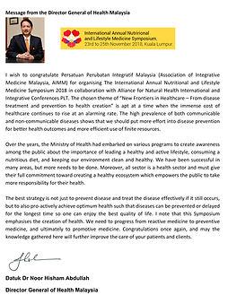 DG message - Nutrition & Lifestyle Medic