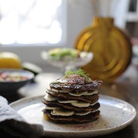 Création pan cake végétal