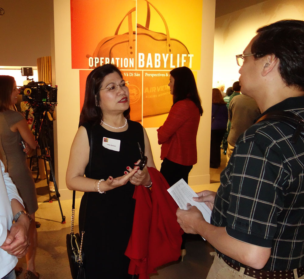 OneWorld's Letty Quizon at Operation Baby Lift event
