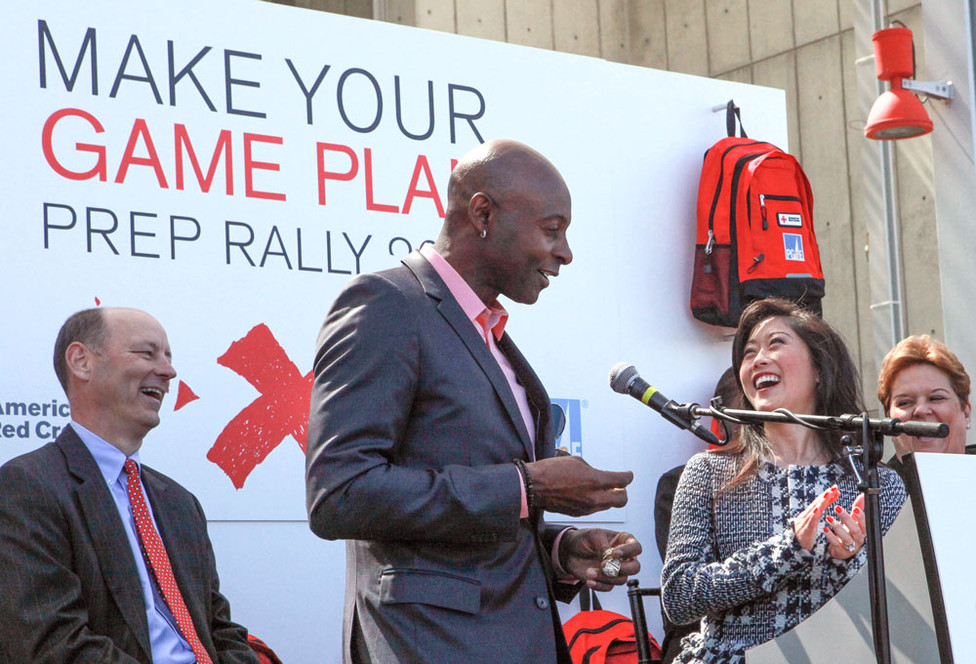 This event featured 49er Jerry Rice and olympian