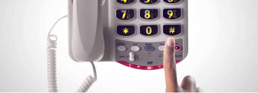 Phone with flashing light