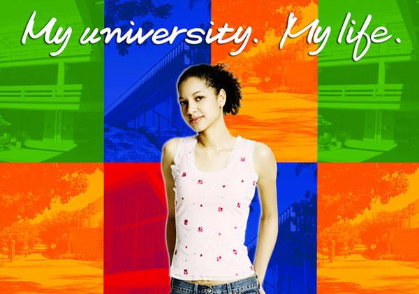"""My University. My Life."" print layout"