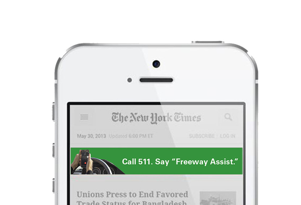 Banner ad in context