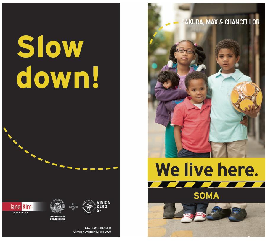 Street pole ad artwork