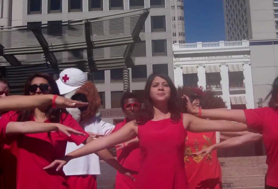 Earthquake Safety Flash Mob Dance Video in Downtown San Francisco