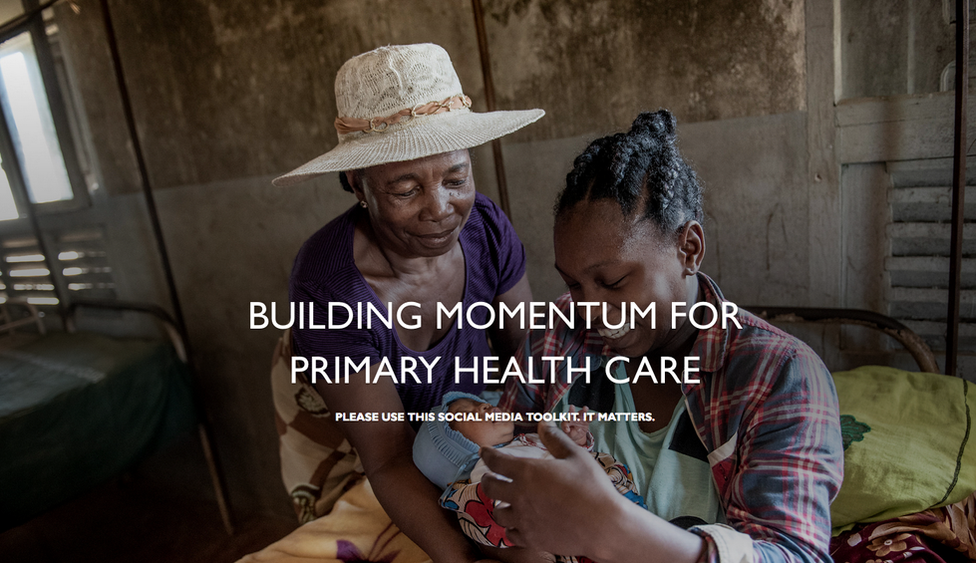 """""""Building Momentum for Primary Health Care"""" Spark page"""