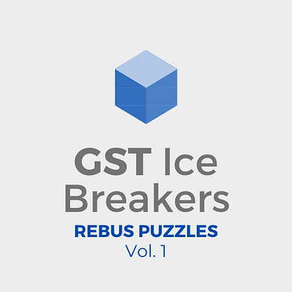 GST Ice Breakers - Rebus Puzzles Vol. 1
