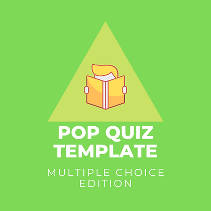 Pop Quiz Template - Multiple Choice Edition