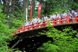 "Once called ""Fudo no hashi"" (Acala's bridge), it marks the transition between ""Hell"" (the descent from Zuishinmon gate) and the sacred path to ""Heaven"" (Mt Haguro's peak)."