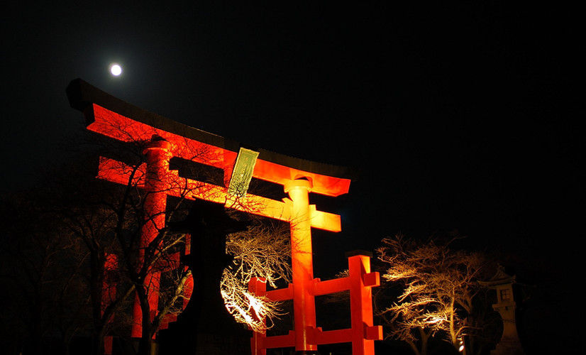 Mt Yudono by night