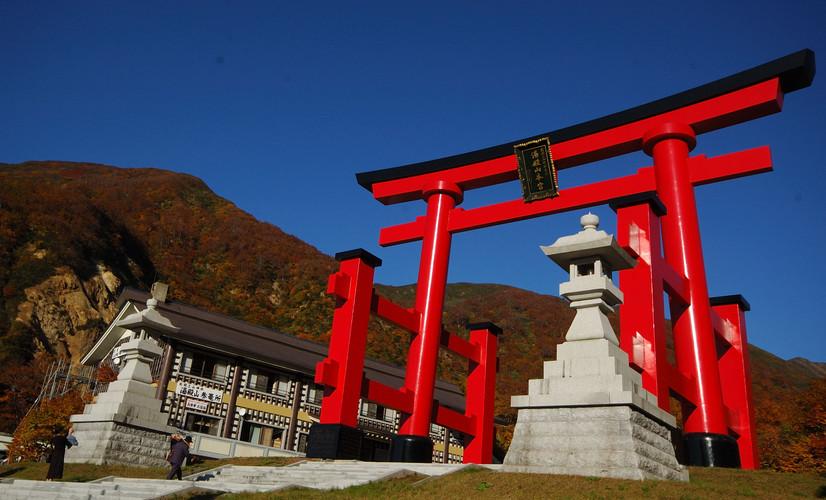Mount Yudono's torii
