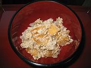 Persimmons in tofu & konjac