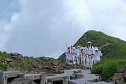 Mt. Gassan's Climbing Season Opening Ceremony