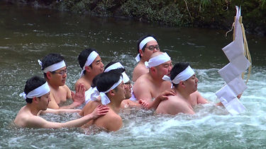 The Haraigawa river is where Shugendo pilgrims cleanse their body before continuing their rites.