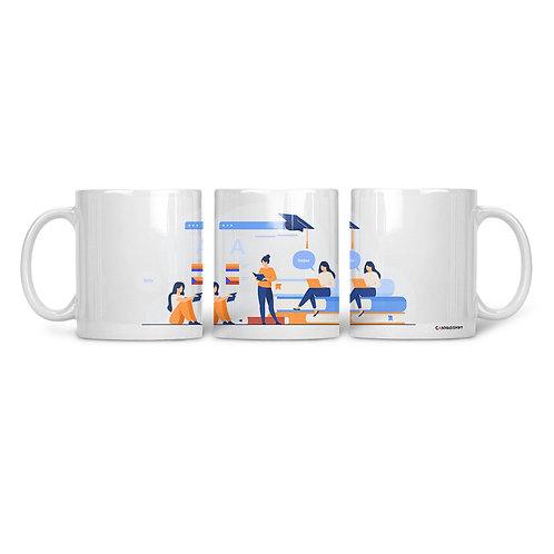 Ceramic Mug Studying
