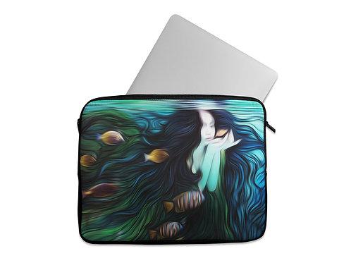 Laptop Sleeve Aqua Girl