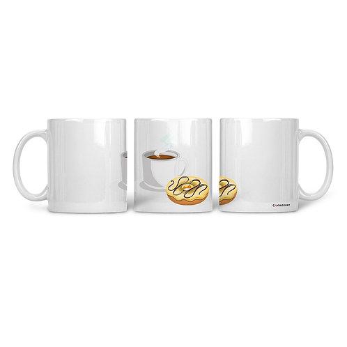 Ceramic Mug Coffee & Donuts