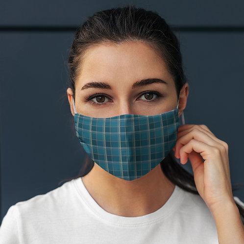 Face Mask Blue Plaid