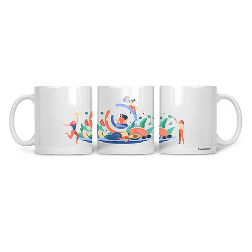 Ceramic Mug Happy Healthy Life