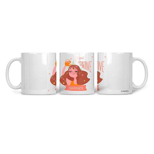 Ceramic Mug Grow Positive Thoughts